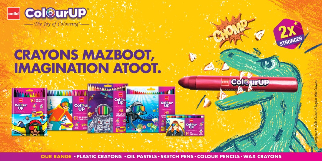 Cello Crayons : Range of wax , pastel crayons,sktech pens, colour pencils