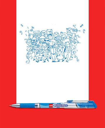 Cello Butterflow Pen : Doodle your imagination