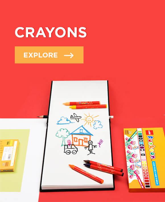 Cello Crayons: Funtoons Wax crayons range