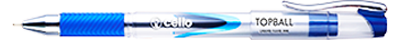 Cello TopBall Click Pen : Premium look with dame resistant tip