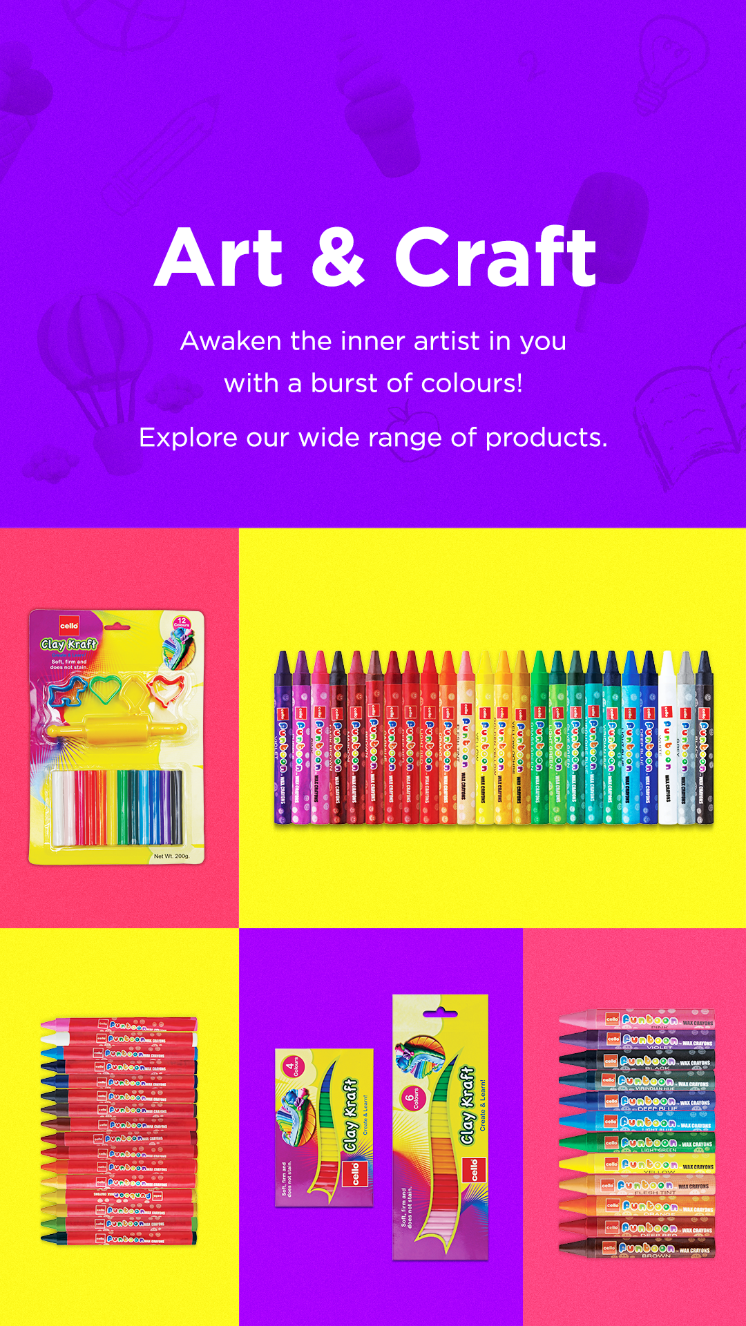 Cello :Art and Craft range of products
